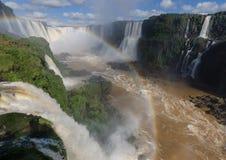 Las cataratas del Iguazú, el Brasil, la Argentina foto de archivo libre de regalías