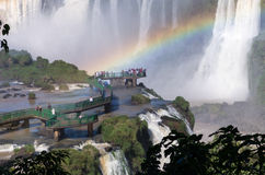 Las cataratas del Iguazú, el Brasil, la Argentina fotos de archivo libres de regalías