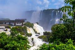Las cataratas del Iguazú en el Brasil Fotografía de archivo libre de regalías