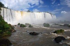 Las cataratas del Iguazú en el Brasil Imágenes de archivo libres de regalías