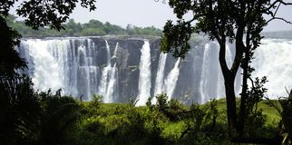Las cataratas Victoria en Zimbabwe Imagen de archivo