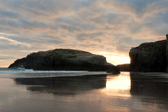 Las Catedrales beach at sinrise Royalty Free Stock Photography