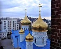 Las catedrales de Kazán Foto de archivo libre de regalías
