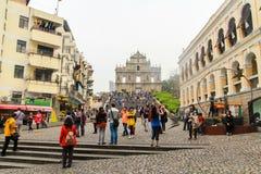 Las catedrales San Pablo de Macao, Chaina Foto de archivo