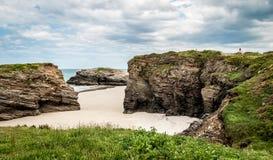 Las catedrales varan (playa de las catedrales) España Océano Atlántico fotografía de archivo libre de regalías