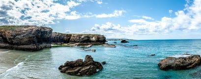 Las catedrales varan (playa de las catedrales) España Océano Atlántico fotografía de archivo
