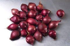 Las cebollas rojas Foto de archivo