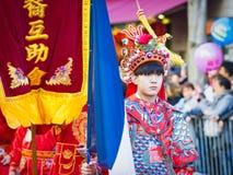 Las celebraciones chinas del Año Nuevo desfilan en París imágenes de archivo libres de regalías