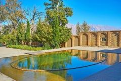 Las charcas de príncipe Garden, Mahan, Irán fotos de archivo libres de regalías