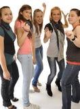 Las chicas jóvenes están jugando en el partido Fotografía de archivo