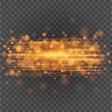 Las chispas anaranjadas claras de Bokeh en fondo de la transparencia vector el ejemplo stock de ilustración