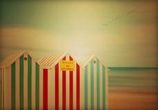 Las chozas de la playa Imagen de archivo