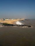 las chozas de la playa del southwold Fotos de archivo libres de regalías
