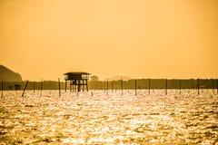 Las chozas de los pescadores Fotografía de archivo libre de regalías