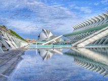 Las Ciencias Ciudad de las Artes y в Валенсии Стоковое Изображение RF
