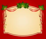 Las cintas de la Navidad adornaron el marco Imágenes de archivo libres de regalías