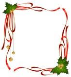 Las cintas de la Navidad adornaron el marco Imagenes de archivo