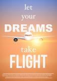 Las citas del transporte aéreo dejaron su vuelo de DreamsTake stock de ilustración