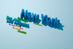 Las ciudades más grandes de los E.E.U.U. del Top Ten Fotos de archivo libres de regalías