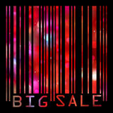 Las claves de barras grandes de la venta todos los datos son ficticias. EPS 8 Fotografía de archivo libre de regalías