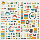Las colecciones grandes de diseño plano de los gráficos de la información diagrams Imagen de archivo