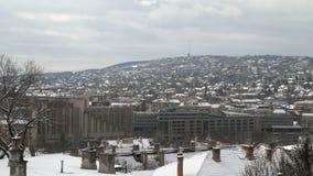 Las colinas de Buda Vista de Budapest almacen de metraje de vídeo