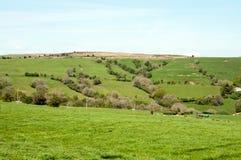 Las colinas de Inglaterra Foto de archivo libre de regalías