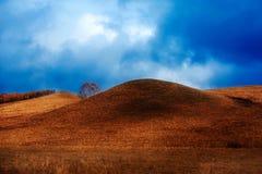 Las colinas y el cloudscape Fotografía de archivo libre de regalías
