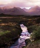 Las colinas y el río de Cullin Foto de archivo libre de regalías