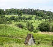 Las colinas y los prados Foto de archivo libre de regalías