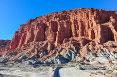 Las Coloradas red cliff in the Ischigualasto National Park, Arge Stock Images