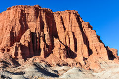 Las Coloradas red cliff in the Ischigualasto National Park, Arge Royalty Free Stock Image