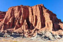 Las Coloradas red cliff in the Ischigualasto National Park, Arge Stock Photo