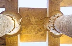 Las columnas del templo de Kom Ombo Imagen de archivo libre de regalías