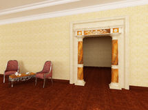 Las columnas en la entrada al cuarto de reconstrucción Fotos de archivo libres de regalías