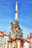 Las columnas marianas son monumentos religiosos construidos en honor de la trinidad bendecida, a menudo en la acción de gracias p Fotos de archivo libres de regalías