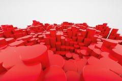 Columnas plásticas rojas Imagenes de archivo
