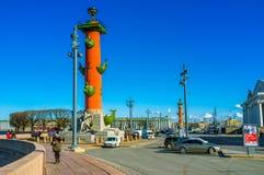 Las columnas rostrales Foto de archivo
