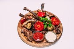 Las comidas, meen, sous, sabroso, hermoso, restoran, café, carne de vaca, cerdo, fust Foto de archivo