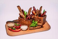 Las comidas, meen, sous, sabroso, hermoso, restoran, café, carne de vaca, cerdo, fust Foto de archivo libre de regalías