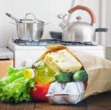 Las comidas sanas están en el vector Fotos de archivo libres de regalías