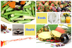 Las comidas sanas hacen buena salud. Foto de archivo