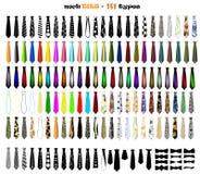 Las corbatas vector el sistema Foto de archivo libre de regalías
