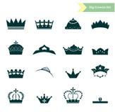 Las coronas fijadas Fotografía de archivo libre de regalías