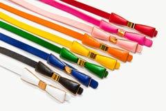 Las correas de cuero coloridas Fotografía de archivo