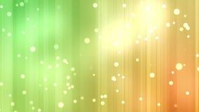 Las corrientes amarillas y verdes de la luz con el brillo protagonizan ilustración del vector