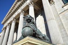 Las Cortes Parliament Madrid Royalty Free Stock Photography