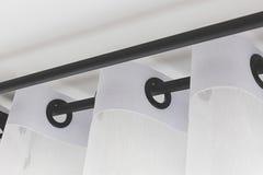 Las cortinas blancas foto de archivo libre de regalías