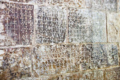 Las cruces tallaron en el sepulcro santo. Jerusal?n. Israel Fotografía de archivo libre de regalías