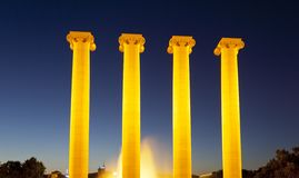 Las cuatro columnas Imagen de archivo libre de regalías